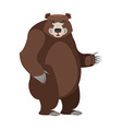 Bear in white background Good happy wild animal vector image