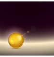 Golden shiny glow sphere backgroundcontains light vector image