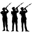 guard of honor 2 vector image