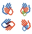hands logo design template people family vector image