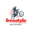 motorcycle logo emblem design vector image