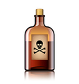 poison bottle isolated vector image