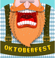 Shout Poster for Oktoberfest Angry and aggressive vector image