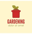 Garden center emblem or label badge logo vector image