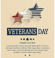 Veterans day design vector image