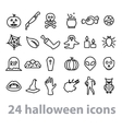twentyfour halloween icons collection vector image