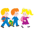 Schoolboys and schoolgirl vector image
