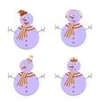 Set of Snowmans vector image