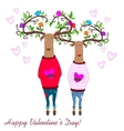hipster deers falling in love valentine s day vector image