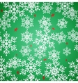 Christmas seamless green pattern background with vector image