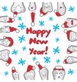 Teeth Happy New Year greeting card vector image