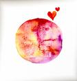 Watercolor colorful blot vector image