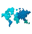 3D world map with dots vector image
