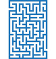 blue labyrinth vector image