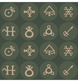 seamless texture with alchemical processes symbol vector image