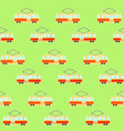 cute colorful tram pattern streetcar and tranway vector image
