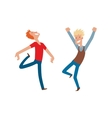 Happy jumping man vector image