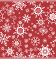 pattern seamless snowflake vector image