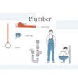 plumber at worck vector image