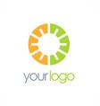 round eco geometry logo vector image