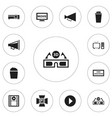 set of 12 editable filming icons includes symbols vector image