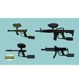 Set paintball guns vector image