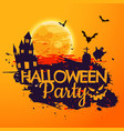 grunge style halloween party background vector image