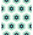 Pattern with stylized flowers in 1950s style vector image vector image
