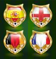football emblem vector image vector image