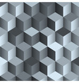 3d monochrome background with cubes vector image