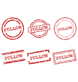 Follow stamps vector image vector image