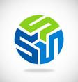 Round S circle technology logo vector image