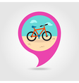 Bicycle pin map icon Summer Vacation vector image