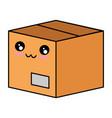 box carton kawaii character vector image