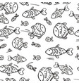cute seamless pattern with fish vector image