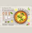 hawaiian pizza vector image