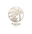 logo palm in circle vector image
