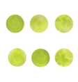 Round green spots The texture of acrylic Blurred vector image