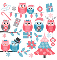 Winter Owls vector image