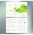 Booklet catalog brochure folder bio eco green leaf vector image
