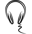 Simple with a headphones vector image