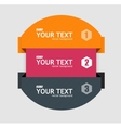 infographics options banner 1 2 3 vector image