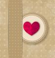 Valentines Day retro elegance grunge background vector image