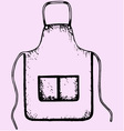 kitchen apron vector image