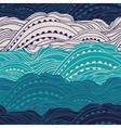 Pattern Sea Waves 2 vector image