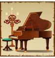 Antique piano with candlestick vector image