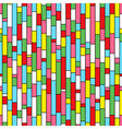 colorful seamless pattern with rectangle mosaic vector image