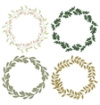 Hand drawn set of retro wreath vector image