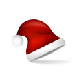 red christmas santa claus hat vector image