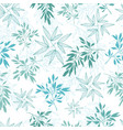 teal tropical leaves summer seamless vector image